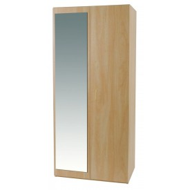 Woodgrain 2 Door Robe With Mirror