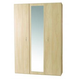 Woodgrain 3 Door Robe With Mirror.