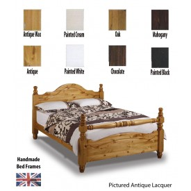 Yorkshire Rail End Handcrafted Three Quarter Bed Frame