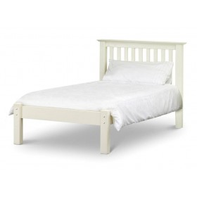Barcelona Low Foot Stone White Single Bed Frame