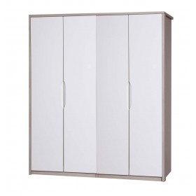 Avola Champagne With Cream Gloss 4 Door Robe