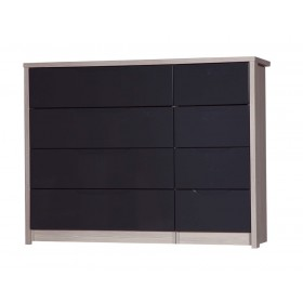 Avola Champagne With Grey Gloss 4 Drawer Double Chest