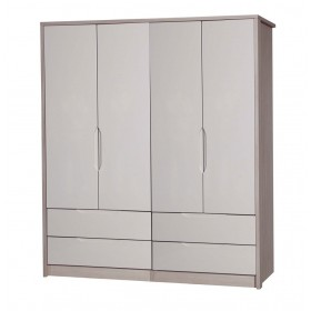 Avola Champagne With Sand Gloss 4 Door 4 Drawer Combi