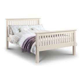 Barcelona Stone White High Foot End King Size Bed Frame