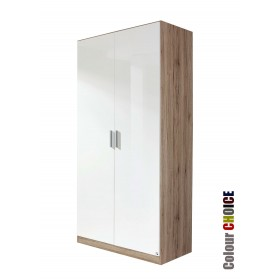 Rauch High Gloss Cello 2 Door Wardrobe