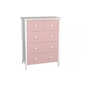 Kipling Pink 3+2 Drawer Chest