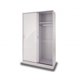 Otto White High Gloss Sliding Door Robe