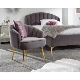 Petal Plush Grey Occasional Chair