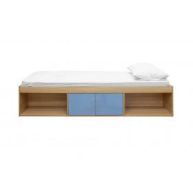 Daytona Oak And Blue Storage Bed