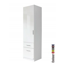 Rauch High Gloss Cello 1 Door 2 Drawer Wardrobe