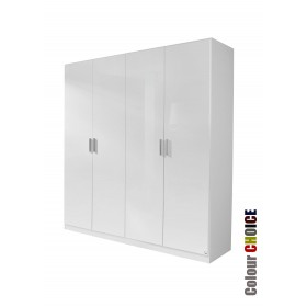 Rauch High Gloss Cello 4 Door Wardrobe