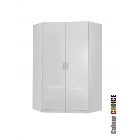 Rauch High Gloss Cello 2 Door Corner Wardrobe