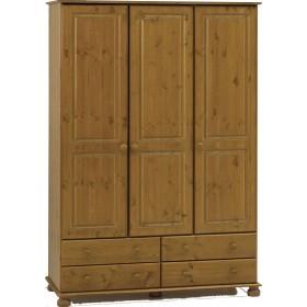 Richmond Antique Pine 3 Door/4 Drawer Robe
