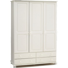 Richmond White 3 Door/4 Drawer Robe