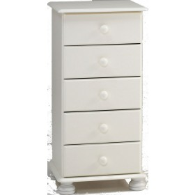 Richmond White 5 Drawer Chest