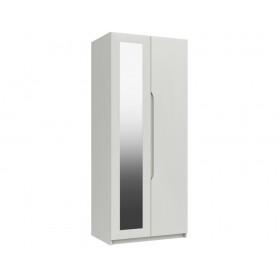 Sutton Alpine White High Gloss 2 Door Robe With Mirror