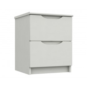 Sutton Alpine White High Gloss 2 Drawer Bedside