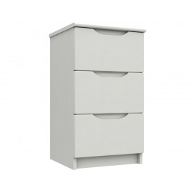Sutton Alpine White High Gloss 3 Drawer Bedside