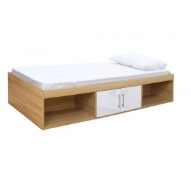 Daytona Oak And  White Storage Bed