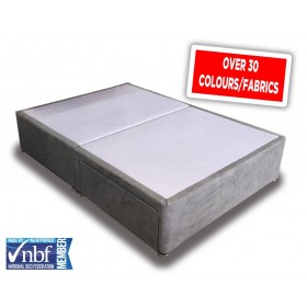 Superior Double Divan Bed Base With Fabric Choice