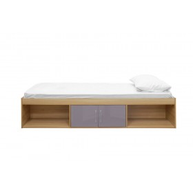 Daytona Oak And Grey Storage Bed