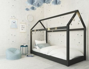 Hickory House Black Bed Frame