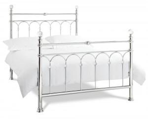 Bentley Designs Krystal Shiny Chrome Bed Frame