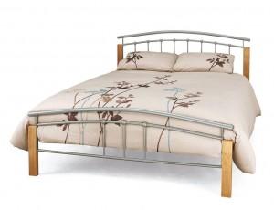 Tetras Silver Kingsize Bed Frame