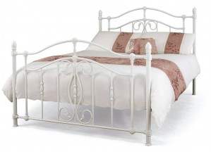 Nice White Double Bed Frame
