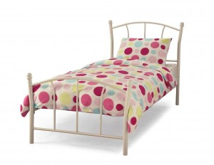 Penny White Single Bed Frame