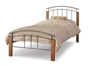 Tetras Silver Single Bed Frame