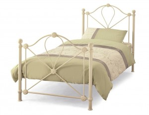 Lyon Ivory Single Bed Frame