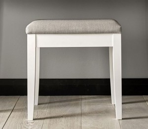 Ashenby White Dressing Stool