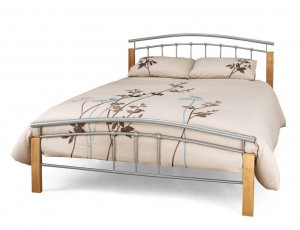 Tetras Silver Double Bed Frame