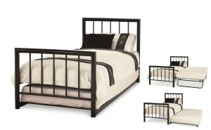 Modena Black Guest Bed Frame