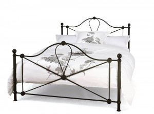 Lyon Black Three Quarter Bed Frame