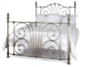 Jessica Nickel Double Bed Frame