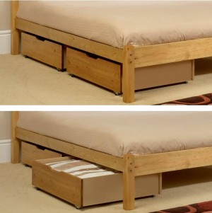 Underbed Storage Drawers (2) Pine