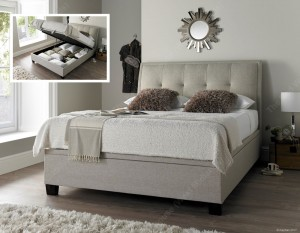 Acclaim Oatmeal Ottoman Storage Bed Frame
