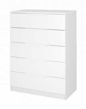 Alpine White Gloss 5 Drawer Chest