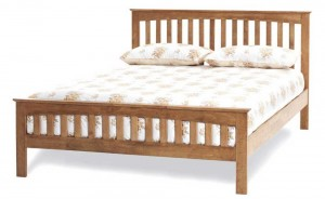 Emelia Honey Oak Super Kingsize Bed Frame