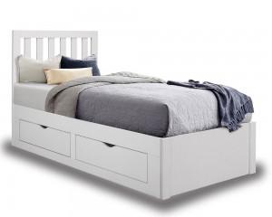 Apple White Storage Bed