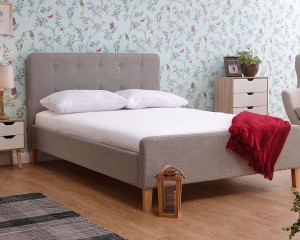 Ashville Light Grey Bed Frame