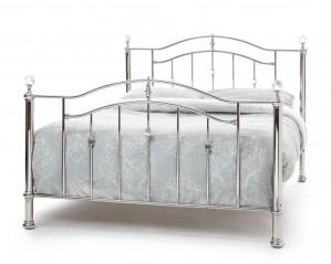 Ashleigh Nickel Super Kingsize Bed Frame
