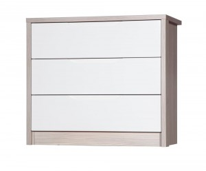 Avola Champagne With Cream Gloss 3 Drawer Wide Chest