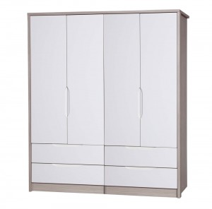 Avola Champagne With Cream Gloss 4 Door 4 Drawer Combi