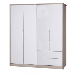 Avola Champagne With Cream Gloss 4 Door Combi With Regular Robe