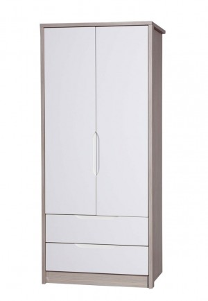 Avola Champagne With Cream Gloss 2 Door 2 Drawer Combi Robe