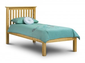 Barcelona Low Foot Antique Pine Single Bed Frame