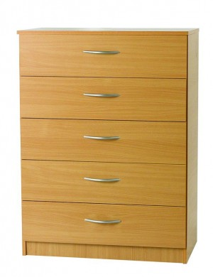 Beech Mode 5 Drawer Chest